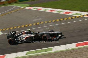 World © Octane Photographic Ltd. F1 Italian GP - Monza, Friday 6th September 2013 - Practice 2. Sauber C32 - Esteban Gutierrez. Digital Ref : 0813lw1d42384