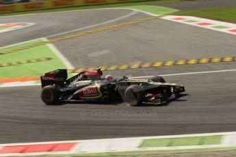 World © Octane Photographic Ltd. F1 Italian GP - Monza, Friday 6th September 2013 - Practice 2. Lotus F1 Team E21 - Kimi Raikkonen. Digital Ref : 0813lw1d42455