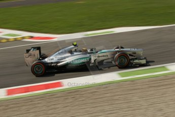 World © Octane Photographic Ltd. F1 Italian GP - Monza, Friday 6th September 2013 - Practice 2. Mercedes AMG Petronas F1 W04 – Lewis Hamilton. Digital Ref : 0813lw1d42525