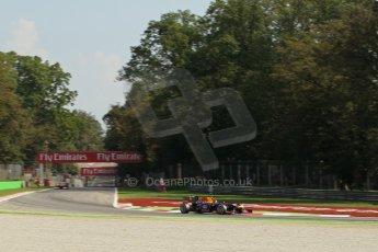 World © Octane Photographic Ltd. F1 Italian GP - Monza, Saturday 7th September 2013 - Practice 3. Infiniti Red Bull Racing RB9 - Sebastian Vettel. Digital Ref :