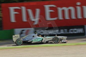 World © Octane Photographic Ltd. F1 Italian GP - Monza, Saturday 7th September 2013 - Practice 3. Mercedes AMG Petronas F1 W04 – Lewis Hamilton. Digital Ref :