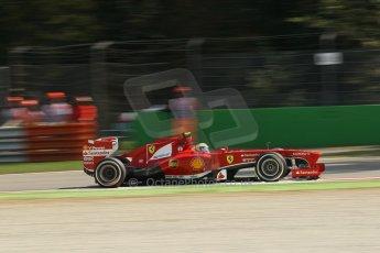 World © Octane Photographic Ltd. F1 Italian GP - Monza, Saturday 7th September 2013 - Practice 3. Scuderia Ferrari F138 - Felipe Massa. Digital Ref :