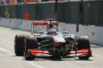 World © Octane Photographic Ltd. F1 Italian GP - Monza, Saturday 7th September 2013 - Qualifying. Vodafone McLaren Mercedes MP4/28 - Jenson Button. Digital Ref :