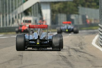 World © Octane Photographic Ltd. F1 Italian GP - Monza, Saturday 7th September 2013 - Qualifying. Vodafone McLaren Mercedes MP4/28 - Sergio Perez and Jenson Button. Digital Ref :