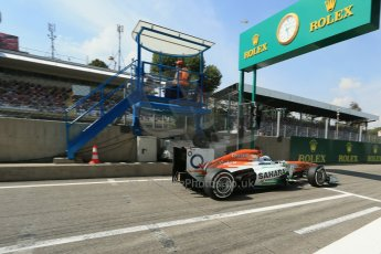 World © Octane Photographic Ltd. F1 Italian GP - Monza, Saturday 7th September 2013 - Qualifying. Sahara Force India VJM06 - Paul di Resta. Digital Ref :