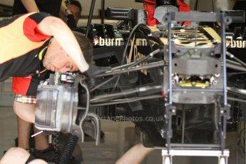 World © Octane Photographic Ltd. F1 Italian GP - Monza, Saturday 7th September 2013 - Qualifying. Lotus F1 Team E21front suspension and sidepod. Digital Ref :