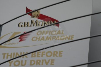 World © Octane Photographic Ltd. F1 Italian GP - Monza, Sunday 8th September 2013 - Race Preparation. Official Champagne Supplier, G.H.Mumm. Digital Ref : 0824cb7d6129