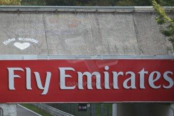 World © Octane Photographic Ltd. F1 Italian GP - Monza, Friday 6th September 2013 - Track Atmosphere - Love for Nico Rosberg. Digital Ref : 0811cb7d4878