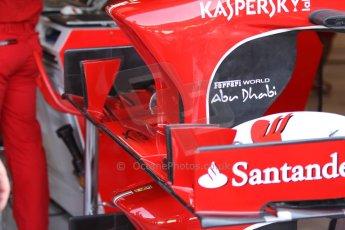 World © Octane Photographic Ltd. F1 Italian GP - Monza, Friday 6th September 2013 - Practice 1. Scuderia Ferrari F138 front wing. Digital Ref : 0811cb7d5075