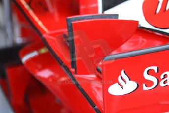World © Octane Photographic Ltd. F1 Italian GP - Monza, Friday 6th September 2013 - Practice 1. Scuderia Ferrari F138 front wing. Digital Ref : 0811cb7d5078