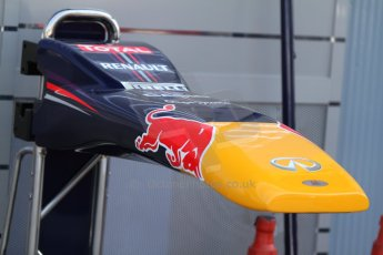 World © Octane Photographic Ltd. F1 Italian GP - Monza, Friday 6th September 2013 - Practice 1. Infiniti Red Bull Racing RB9 nose detail. Digital Ref : 0811cb7d5081