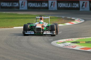 World © Octane Photographic Ltd. F1 Italian GP - Monza, Friday 6th September 2013 - Practice 1. Sahara Force India VJM06 - Paul di Resta. Digital Ref : 0811lw1d1449