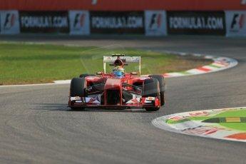 World © Octane Photographic Ltd. F1 Italian GP - Monza, Friday 6th September 2013 - Practice 1. Scuderia Ferrari F138 - Felipe Massa. Digital Ref : 0811lw1d1464