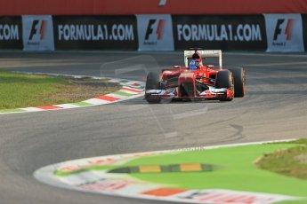 World © Octane Photographic Ltd. F1 Italian GP - Monza, Friday 6th September 2013 - Practice 1. Scuderia Ferrari F138 - Fernando Alonso. Digital Ref : 0811lw1d1499