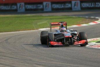 World © Octane Photographic Ltd. F1 Italian GP - Monza, Friday 6th September 2013 - Practice 1. Vodafone McLaren Mercedes MP4/28 - Jenson Button. Digital Ref : 0811lw1d1647