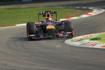 World © Octane Photographic Ltd. F1 Italian GP - Monza, Friday 6th September 2013 - Practice 1. Infiniti Red Bull Racing RB9 - Sebastian Vettel. Digital Ref : 0811lw1d2091