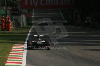 World © Octane Photographic Ltd. F1 Italian GP - Monza, Friday 6th September 2013 - Practice 1. Sauber C32 - Nico Hulkenberg. Digital Ref : 0811lw1d2495