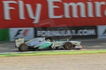 World © Octane Photographic Ltd. F1 Italian GP - Monza, Friday 6th September 2013 - Practice 1. Mercedes AMG Petronas F1 W04 - Nico Rosberg. Digital Ref : 0811lw1d42092