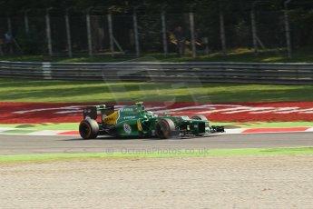 World © Octane Photographic Ltd. F1 Italian GP - Monza, Friday 6th September 2013 - Practice 1. Caterham F1 Team CT03 - Giedo van der Garde. Digital Ref : 0811lw1d42244