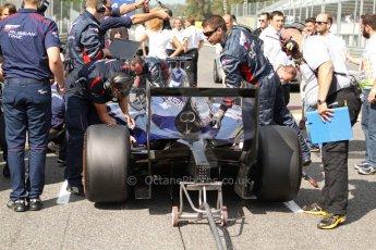 World © Octane Photographic Ltd. GP2 Italian GP, Monza, Saturday 7th September 2013. Race 1. Sam Bird on the grid – Russian TIME. Digital Ref :