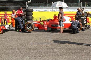 World © Octane Photographic Ltd. GP2 Italian GP, Monza, Saturday 7th September 2013. Race 1. Mitch Evans on the grid – Arden International. Digital Ref: