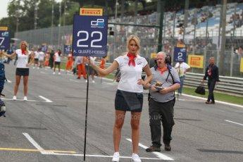World © Octane Photographic Ltd. GP2 Italian GP, Monza, Sunday 8th September 2013. Race 2. Adrian Quaife-Hobbs grid spot - Hilmer Motorsport. Digital Ref :