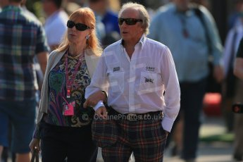 World © Octane Photographic Ltd. F1 Italian GP - Monza, Saturday 7th September 2013 - Paddock. Jackie Stewart and wife Helen (née McGregor. Digital Ref : 0815lw1d4259