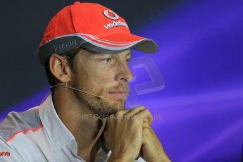 World © Octane Photographic Ltd. F1 Italian GP - Monza, Thursday 5th September 2013 - FIA Press Conference. Vodafone McLaren Mercedes MP4/28 - Jenson Button. Digital Ref : 0809lw1d1134