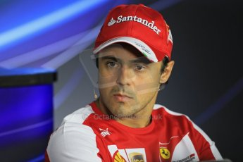 World © Octane Photographic Ltd. F1 Italian GP - Monza, Thursday 5th September 2013 - FIA Press Conference. Scuderia Ferrari F138 - Felipe Massa. Digital Ref : 0809lw1d1144