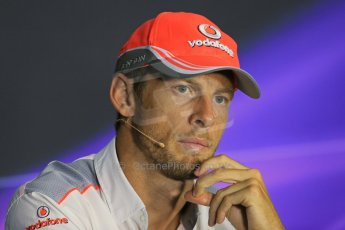 World © Octane Photographic Ltd. F1 Italian GP - Monza, Thursday 5th September 2013 - FIA Press Conference. Vodafone McLaren Mercedes MP4/28 - Jenson Button. Digital Ref : 0809lw1d1357
