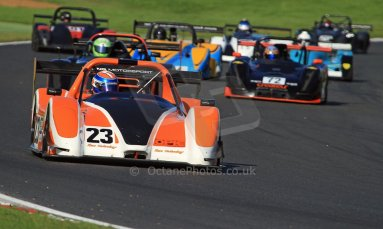 World © Carl Jones/Octane Photographic Ltd. Saturday 3rd August 2013. OSS - Brands Hatch - Race 1. Simon Tilling - Radical SR3. Digital Ref : 0772cj7d0008