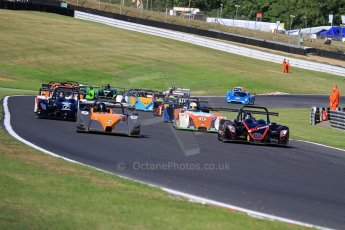 World © Carl Jones/Octane Photographic Ltd. Saturday 3rd August 2013. OSS - Brands Hatch - Race 1. The Start. Digital Ref : 0772cj7d0031