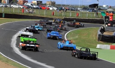 World © Carl Jones/Octane Photographic Ltd. Sunday 4th August 2013. OSS - Brands Hatch - Race 3. The Start. Digital Ref : 0774cj7d0027