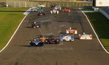 World © Octane Photographic Ltd. BRSCC - OSS Championship. Saturday 14th September 2013. Donington Park. Saturday 14th September 2013 – Race 1. Race Start lead by Tony Sinclair – Jade 3 V6. Digital Ref: 0827cj1d7150