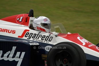 World © Octane Photographic Ltd/ Carl Jones. OSS F1 Demos. Snetterton. Alastair Davison's Toleman TG184 - ex Ayrton Senna. Digital Ref: 0719cj7d0187
