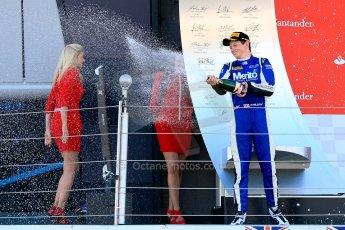 World © Octane Photographic Ltd./Chris Enion. Saturday 30th June 2013 Dallara GP3/13 - British GP - Silverstone - Race 2 Podium. Nick Yelloly celebrates on the podium. Digital ref : 0736ce1d9243