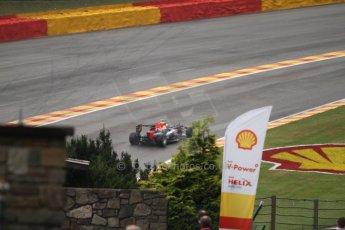 World © Octane Photographic Ltd. Belgian GP Friday 23rd August 2013 F1 Practice 1. Infiniti Red Bull Racing RB9 - Sebastian Vettel. Digital Ref : 0784cb7d1801