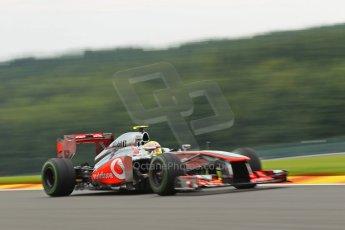 World © Octane Photographic Ltd. F1 Belgian GP - Spa - Francorchamps. Friday 23rd August 2013. Practice 1. Vodafone McLaren Mercedes MP4/28 - Sergio Perez . Digital Ref :0784lw1d4845