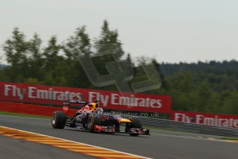 World © Octane Photographic Ltd. F1 Belgian GP - Spa - Francorchamps. Friday 23rd August 2013. Practice 1. Infiniti Red Bull Racing RB9 - Sebastian Vettel. Digital Ref : 0784lw1d4869