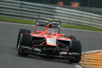 World © Octane Photographic Ltd. F1 Belgian GP - Spa - Francorchamps. Friday 23rd August 2013. Practice 1. Marussia F1 Team MR02 - Max Chilton. Digital Ref : 0784lw1d7219