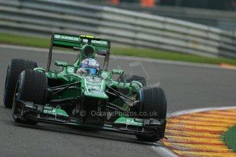 World © Octane Photographic Ltd. F1 Belgian GP - Spa - Francorchamps. Friday 23rd August 2013. Practice 1. Caterham F1 Team CT03 - Giedo van der Garde. Digital Ref : 0784lw1d7223