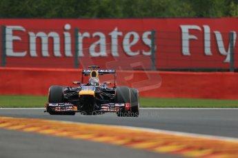 World © Octane Photographic Ltd. F1 Belgian GP - Spa - Francorchamps. Friday 23rd August 2013. Practice 1. Infiniti Red Bull Racing RB9 - Sebastian Vettel. Digital Ref : 0784lw1d7506