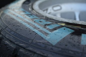 World © Octane Photographic Ltd. Belgian GP Friday 23rd August 2013 paddock. Pirelli wet tyres at the ready as the track gets an early morning soaking at 0800hrs local. Digital Ref : 0783cb7d1646