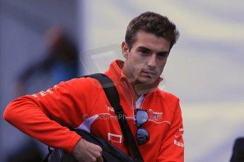 World © Octane Photographic Ltd. Belgian GP Friday 23rd August 2013 paddock. Marussia F1 Team MR02 - Jules Bianchi. Digital Ref : 0783lw1d7139