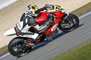 World © Octane Photographic Ltd. Thundersport GB 31st March 2013. JHS Racing Supertwins & F400. Dave Moffatt – Suzuki 650. Digital Ref : 0608ce1d6082