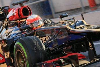 World © Octane Photographic Ltd. Formula 1 Winter testing, Barcelona – Circuit de Catalunya, 28th February 2013. Lotus E31, Romain Grosjean. Digital Ref: 0581lw1d6977