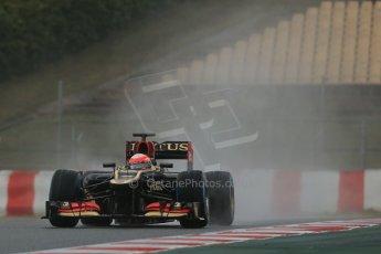 World © Octane Photographic Ltd. Formula 1 Winter testing, Barcelona – Circuit de Catalunya, 28th February 2013. Lotus E31, Romain Grosjean. Digital Ref: