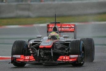 World © Octane Photographic Ltd. Formula 1 Winter testing, Barcelona – Circuit de Catalunya, 28th February 2013. Vodafone McLaren Mercedes MP4/28. Sergio Perez. Digital Ref: