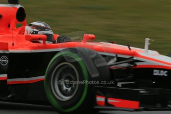 World © Octane Photographic Ltd. Formula 1 Winter testing, Barcelona – Circuit de Catalunya, 28th February 2013. Marussia MR02, Max Chilton. Digital Ref: