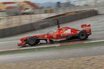 World © Octane Photographic Ltd. Formula 1 Winter testing, Barcelona – Circuit de Catalunya, 28th February 2013. Ferrari F138 – Felipe Massa. Digital Ref: